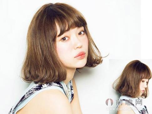 秋冬女生中短发发型 修颜瘦脸气质满分