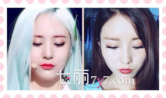 洗完眉���9f�x�_f(x)郑秀晶krystal舞台妆 水晶美妆画法教程