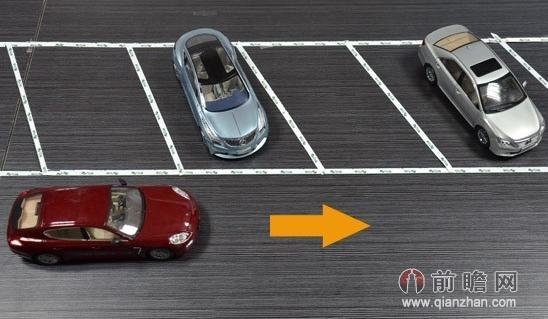 详见:图解倒车入库技巧(2)非字型停车位