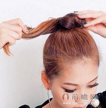 高圆圆允儿都爱清新发型 丸子头简单扎法图解