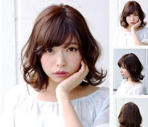 女生短发烫发发型 修颜瘦脸甜美气质