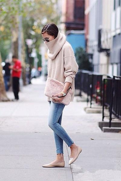 冬季针织衫实用搭配 宋茜也爱这么穿