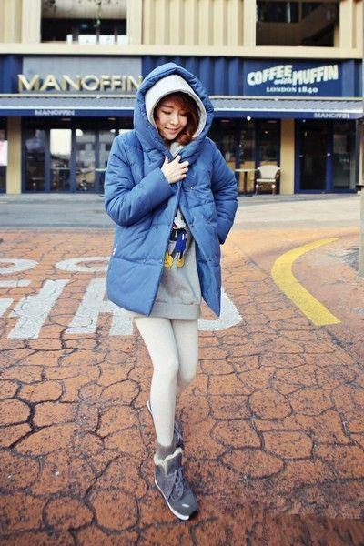 羽绒服搭配运动鞋 活力休闲更时髦图片