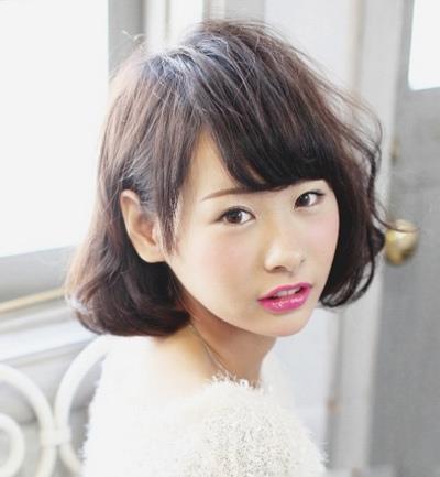 女生中短发发型 韩式梨花头甜美有气质
