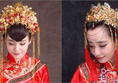 盘点中式复古婚礼新娘头饰 美得让人窒息图片