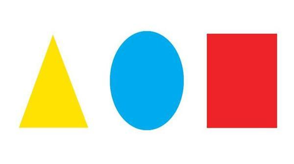 如果给你三个形状,正三角形,正方形和圆形,分别让你填上黄色,红色
