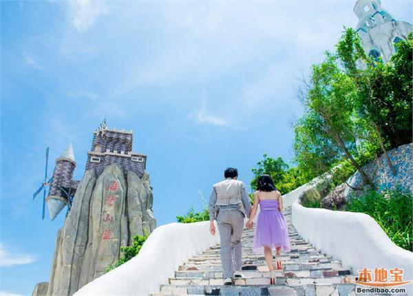 玫瑰海岸位于深圳东部海滨葵涌镇溪涌社区大鹏湾畔,是新人拍摄婚纱