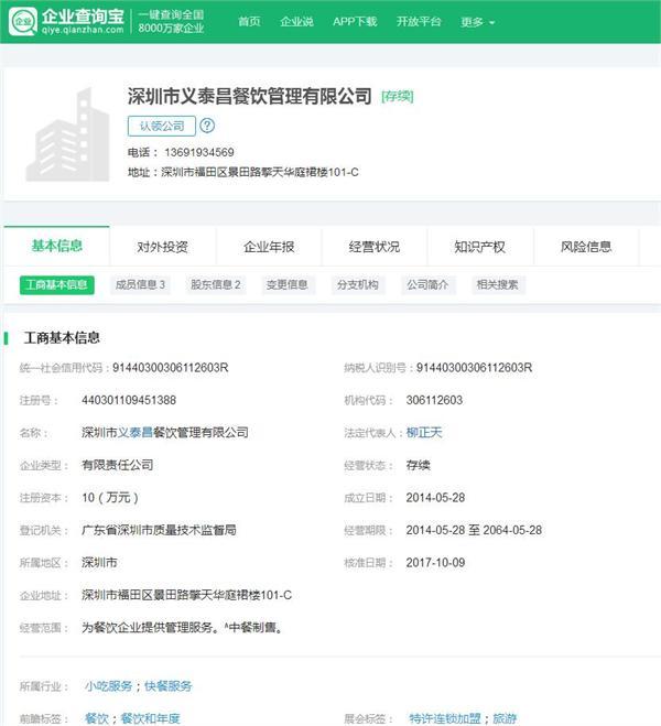 """外卖品牌""""义泰昌""""宣布获得红杉资本中国A轮投资"""