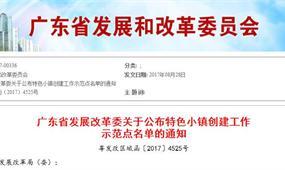 广东省特色小镇政策