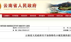 云南省特色小镇政策