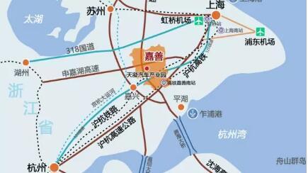 2,区位优势 嘉善产业新城位于嘉兴市嘉善县南部区域,周边交通网络
