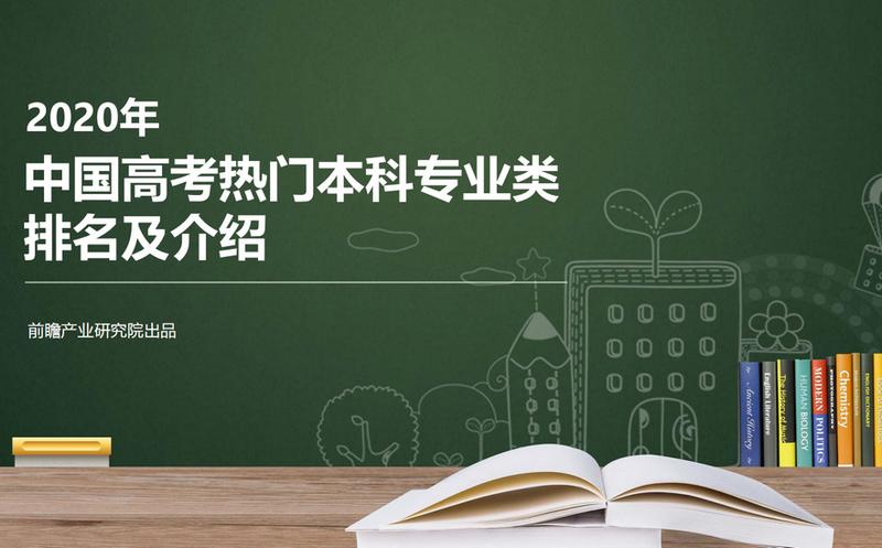 前瞻产业研究院:2020年中国高考热门本科专业类排名及介绍【总】