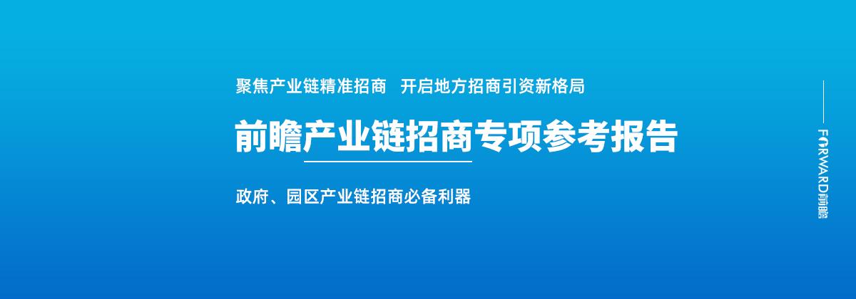 前瞻產業鏈招商專項參考報告
