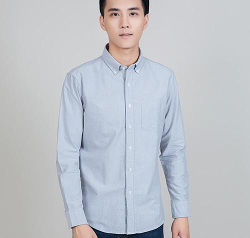 米川 M11001休闲长袖衬衫
