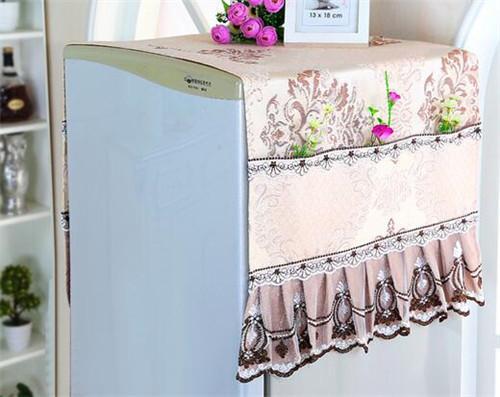 格米诺 欧式家用布艺蕾丝冰箱盖布防尘罩