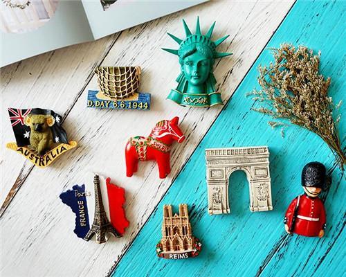 萌小依  3d立体冰箱贴磁贴巴黎日本卡通可爱装饰