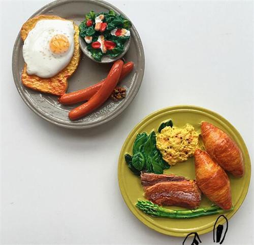 暖暖兔 欧洲出口食物早餐鸡蛋蔬菜面包磁贴