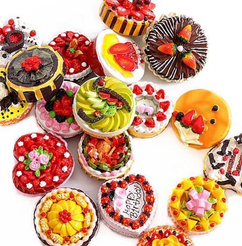 礼汉 生日蛋糕冰箱贴甜点创意立体磁贴