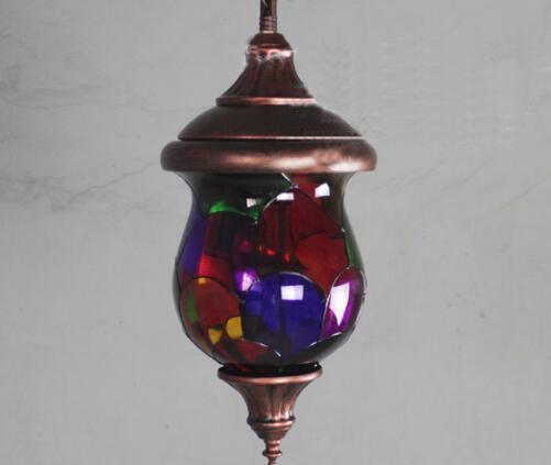 布兰琪 波西米亚地中海彩色小吊灯