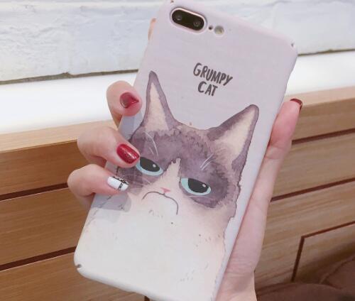 单哆哆工作室 趣味委屈猫咪手机壳