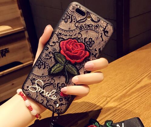 尚尚 蕾丝玫瑰vivox20手机壳