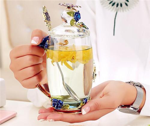 LUXURY 玻璃水杯家用杯子创意茶杯