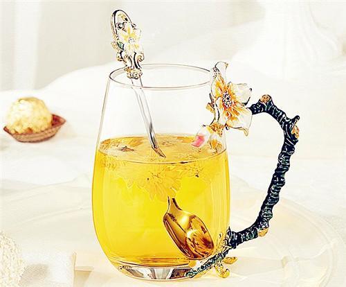 物生物 法式创意珐琅彩玻璃杯