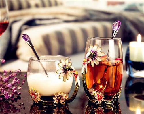 煌霖 珐琅彩水杯花茶杯果