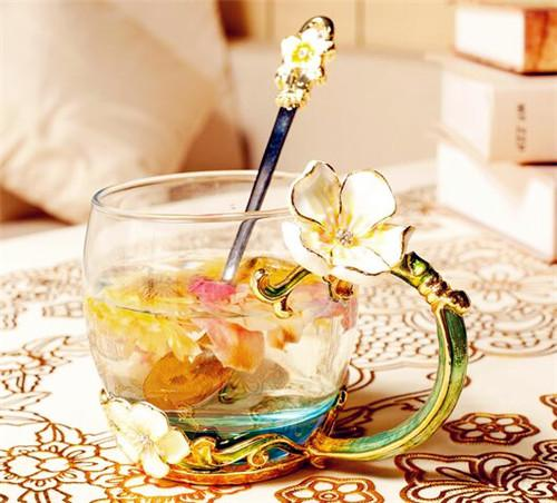 阿玛罗尼 欧式原创珐琅彩水杯花茶杯