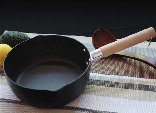 小饭团 日本雪平锅银黑电磁炉硬氧不粘无涂层