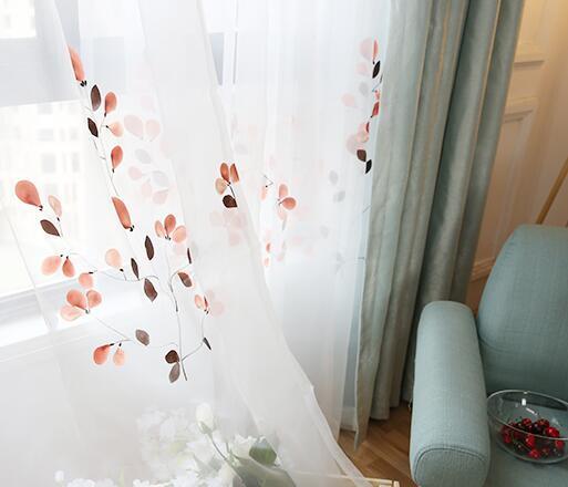 罗兰朵家纺旗舰店 高端手绘窗纱