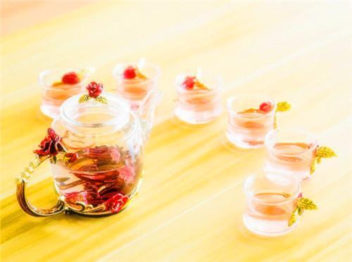 容山堂 梦璃珐琅彩玻璃茶具套装