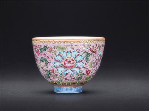 瓷上功夫 珐琅彩手绘品茗杯