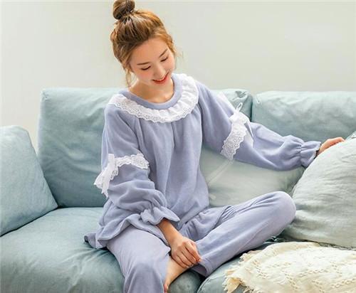 DaMos.love/黛梦思 珊瑚绒睡衣冬季女款加厚