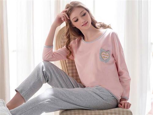 芬腾 新款睡衣女薄款韩版可爱纯棉宽松长袖