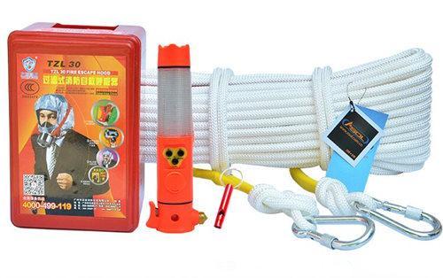 安索 家用火灾地震消防逃生绳家庭应急救生援背包套装