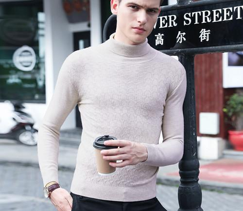 Plboner/宝利博纳 纯净薄款高领毛衣