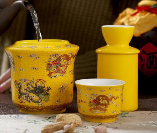 DH 家用景德镇陶瓷烫酒壶