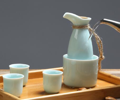 仟一源瓷坊 陶瓷日式温酒壶套装