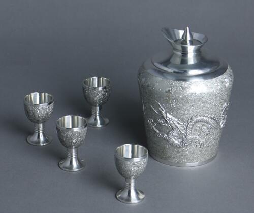 斑锡·龙 纯锡手工中式温酒壶