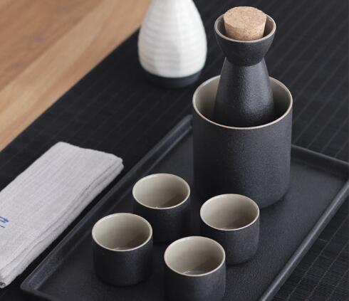 一间时光 日式禅墨风陶瓷温酒器套装