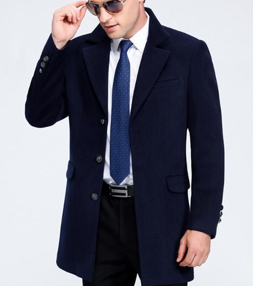 派杰西 JX1702男毛呢大衣