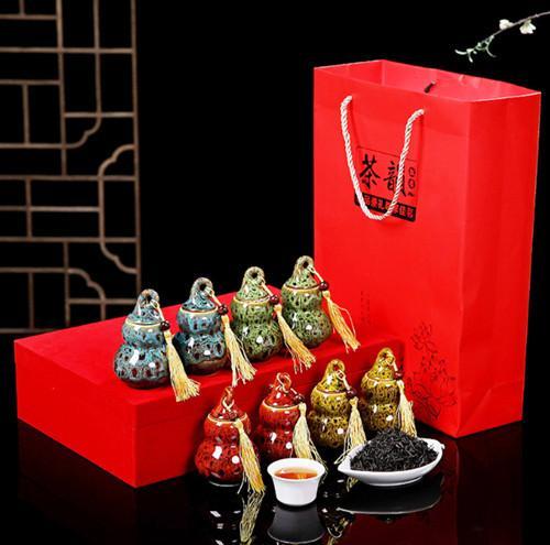 瓷韵香正山小种红茶陶瓷葫芦小罐茶叶礼盒