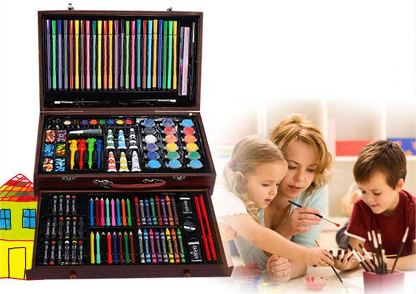 Artlictous官方企业店 儿童绘画木盒套装