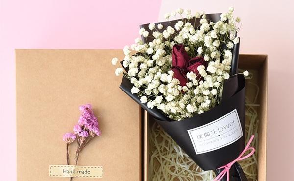桃花岛 永生花花束礼盒
