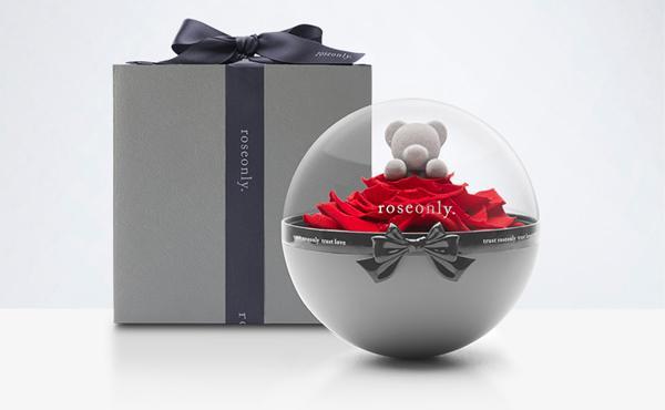 roseonly 永生玫瑰熊礼盒