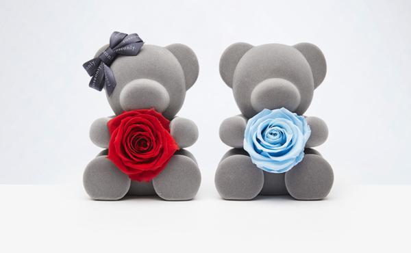 roseonly 永生玫瑰花礼盒小熊