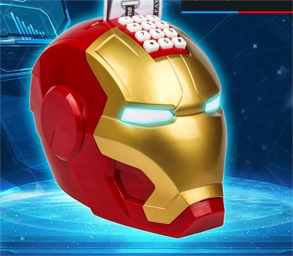 宝泰乐玩具商城 创意钢铁侠模型存钱罐密码箱