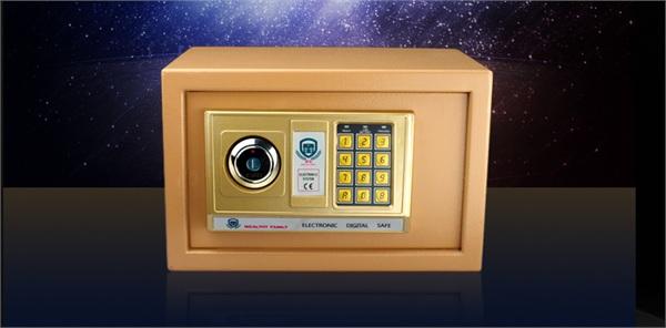 家裕保险箱 家用小型入墙防盗迷你密码保险柜