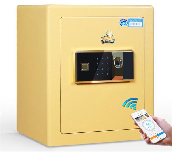 虎牌 云智能app指纹密码家用小型WIFI保险箱